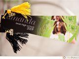 Bookmark Graduation Invitations Amanda S Party Invitations Bookmark Style Chad Franz