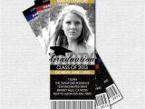 Bookmark Graduation Invitations Graduation Party Ticket Invitations or Announcement