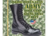 Boot Camp Going Away Party Invitations soldier Boot Camp Going Away Party Invitation Zazzle