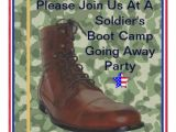 Boot Camp Going Away Party Invitations soldiers Boot Camp Going Away Party Invitation 5 25