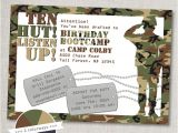 Boot Camp Party Invitations Armyparty Bootcamp Birthday Invitation Printable Army