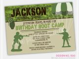 Boot Camp Party Invitations Boot Camp Boy Personalized Party Invitation