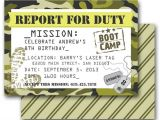 Boot Camp Party Invitations Camo Party Invitation Army Boot Camp Laser Tag Birthday