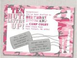 Boot Camp Party Invitations Pink Army Invitation Quot Birthday Bootcamp Quot Birthday Invite