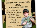 Boot Camp Party Invitations Printable Army Boot Camp Birthday Invitation with Photo by