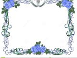 Borders and Frames for Wedding Invitation Wedding Invitation Blue Roses Border Stock Image Image