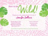 Born to Be Wild Baby Shower Invitations Born to Be Wild Baby Shower Invitation by Friedgreendesign