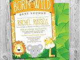 Born to Be Wild Baby Shower Invitations Safari Baby Shower Invitation Jungle Baby Shower