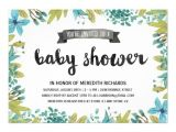 Botanical Baby Shower Invitations Botanical Baby Shower Card