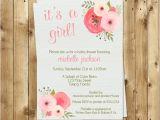 Botanical Baby Shower Invitations Botanical Baby Shower Invitations Girl Watercolor Flowers