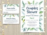 Botanical Baby Shower Invitations Couples Baby Shower Invitation Gender Neutral Spring