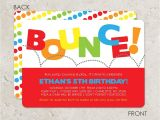 Bounce Party Invites Bounce House Birthday Party Invitation Pump It Up Party