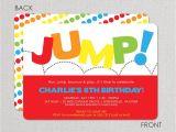 Bounce Party Invites Jump Birthday Invitation Bounce Invitation Jump Birthday