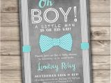 Bow Tie Baby Shower Invites Bow Tie Baby Shower Invitations Little Man Printable by