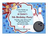 Bowling Party Invitation Template Word Free Bowling Birthday Invitation Template