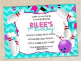 Bowling Party Invitation Template Word Girls Bowling Party Invitation Template Girly Chevron