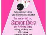 Bowling Party Invitations for Kids Bowling Birthday Party Invitations Girl Bowling Sports