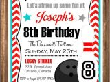 Bowling Party Invitations for Kids Printable Bowling Invitations Bowling Party Invitation