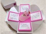 Boxed Baby Shower Invitations Exploding Box Exploding Boxes Baby Shower Invitation Pink