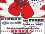 Boxing Party Invitations 148 Best Images About Boxing themed Party On Pinterest