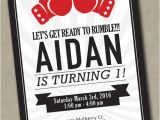 Boxing Party Invitations Boxing Birthday Invitation Ufc First Birthdays 2nd 3rd