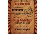Boxing Party Invitations Personalized Glove Invitations Custominvitations4u Com