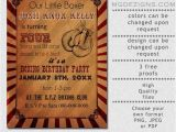 Boxing Party Invitations Printable Rustic Vintage Boxing Birthday Invitation