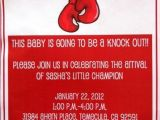 Boxing themed Party Invitations Boxing Baby Shower Party Ideas Photo 1 Of 12 Catch My