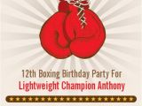 Boxing themed Party Invitations Boxing Gloves Printable Birthday Party by Candlesandfavors
