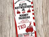 Boxing themed Party Invitations Boxing Invitation Boxing Birthday Boxing by