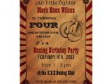 Boxing themed Party Invitations Personalized Glove Invitations Custominvitations4u Com