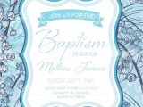 Boy Baptism Invitation Templates Baby Boy Baptism Christening Invitation Template Stock