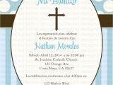 Boy Baptism Invitations In Spanish Baptism Invitation Baptism Invitations In Spanish New