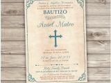 Boy Baptism Invitations In Spanish Spanish Printable Baptism Invitations Espanol Catholic Church