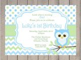 Boy Owl First Birthday Invitations Items Similar to Boy Owl Birthday Invitation First