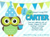 Boy Owl First Birthday Invitations Items Similar to Owl Boy 1st Birthday Invitation