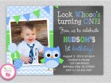 Boy Owl First Birthday Invitations Owl 1st Birthday Invitation Owl Birthday Invitation Boys or