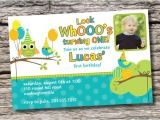 Boy Owl First Birthday Invitations Owl Bird Party 1st Birthday Invitation Boy by