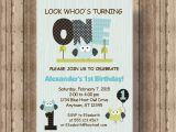 Boy Owl First Birthday Invitations Owl First Birthday Invitation for Boys Blue Owl 1st Birthday