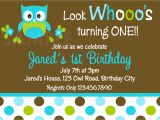 Boy Owl First Birthday Invitations Printable 1st Birthday Invitations Boys Owl Party