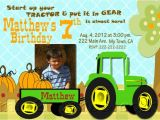 Boy Tractor Birthday Invitations Boys Tractor Birthday Party Invitations with