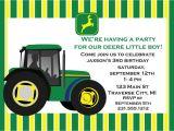 Boy Tractor Birthday Invitations John Deere Tractor Birthday Invitation Announce It