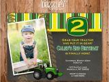 Boy Tractor Birthday Invitations Printable Chalkboard Tractor Birthday Invitation