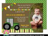 Boy Tractor Birthday Invitations Tractor Birthday Invitation Boys Birthday by foreveryourprints