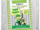 Boy Tractor Birthday Invitations Tractor Birthday Invitation Printable Green Tractor
