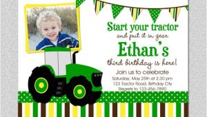 Boy Tractor Birthday Invitations Tractor Birthday Invitation Tractor Birthday Party