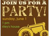 Boy Tractor Birthday Invitations Tractor Boy Birthday Invitations
