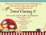 Boys Slumber Party Invitations Boys Sleepover Birthday Party Invitation by thebutterflypress