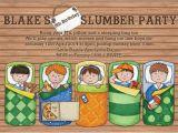 Boys Slumber Party Invitations Personalised Slumber Party Invitations for A Boys Birthday