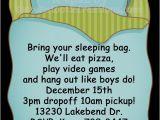 Boys Slumber Party Invitations Sleepover Birthday Party Invitations for Boys